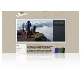A preview image of webdesign work in Taunton for Woodlands Outdoor Education Centre