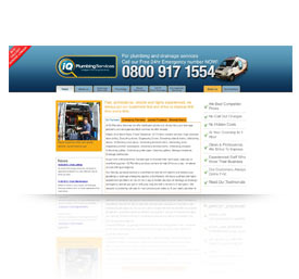 A preview image of webdesign work in Taunton for I Q Plumbers