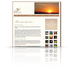 A preview image of web,printdesign work in Taunton for Podere Patrignone