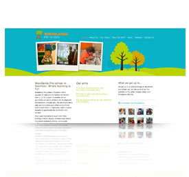 A preview image of web,printdesign work in Taunton for Woodlands-Pre-School